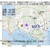 2017年07月31日 13時37分 胆振地方中東部でM2.5の地震