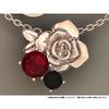 【受注生産限定】「ツキウタ。」より黒兎王国/白兎王国をイメージしたバラモチーフのネックレスが登場!