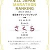 やっと見たよ。全日本マラソンランキング
