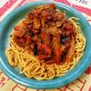【ラオガンマパスタの試作】タコとブロッコリーのトマトソース煮