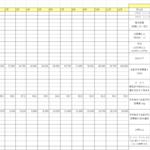 2017年の目標を月ベースに落とし込んだ管理表を作った