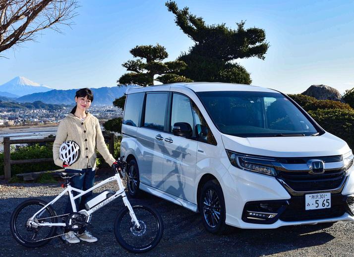 ステップワゴンにe-bikeを載せてラクラク車中泊&春の大井川をサイクリング