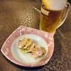蒸し鶏とビール