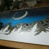 写真コーナー背景 雲を彫る