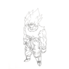 悟空の一番好きなシーンを描いてみた。 My most favorite favorite scene of Goku.