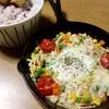 ずぼらの味方10分料理『スキレットで野菜いっぱい目玉焼き』【マイブーム】