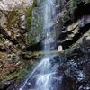 【桃尾の滝】昼暗き森 ドウドウと落ちる大滝と石仏の景色【石上(いそのかみ)布留川】