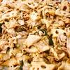 豚バラと蓮根の高菜炒め