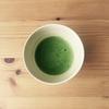カフェオレボウルで抹茶を点ててみた。