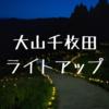 大山千枚田のライトアップを撮影してきた