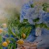 2017年:6月 『梅雨時を描く(2)- 紫陽花と枇杷』