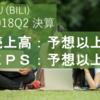 【決算18Q2】ビリビリ動画(BILI)が好決算を発表