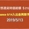 【バイナンスいい意味でおそろしい】2019/5/13 仮想通貨時価総額23兆2000億 ドル109円後半