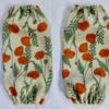 ポピー花柄のリネンで作る簡単かわいいアームカバーの作り方