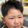 子供だつてツルスベ肌✨✨シェービング…顔そりは理容師だけの国家免許です。