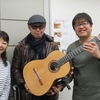 ギター製作家の佐久間悟さんが遊びに来てくれました
