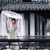 上海南翔古猗园で古装妖精ポートレート-背景を水墨画調にレタッチ