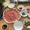 韓国済州島での食事