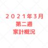 【家計管理 結果 検証】2021年3月 第二週 家計概況
