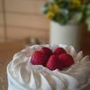 90歳のバースデー祝いは、苺のショートケーキ♪