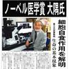 「大隅良典さん、ノーベル医学・生理学賞を受賞」のニュースで思ったこと