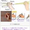 お箸の持ち方。