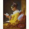 フラゴナール 「読書する娘」 蛇神の示す生命の真理