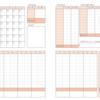 シンプル家計簿(ハガキサイズ)ダウンロード