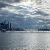 空が綺麗だったのでマンハッタンを撮影