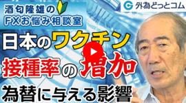 FX「日本でのワクチン接種率増加はドル/円やクロス円に影響ある?」2021/6/10