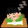 給食を食べたら連絡帳の上で寝てしまう◯◯さん。