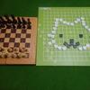 チェスVS連珠(にゃんこならべ) ボードゲーム異種対決