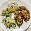 【ズボラ料理】そこそこ簡単ダイエットレシピ、洋風しょうが焼き定食レシピ