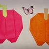 介護施設で絵本作り(9月から旬!梨とリンゴ ―折り紙―)