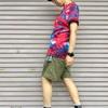 今日の服|真夏の原色タイダイTシャツ×ショーツのコーデ