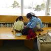 クレヨンで図書館の窓に絵を描こう♪第3回目を開催しました!