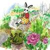 ほどほど庭でお茶会でし!