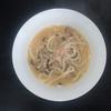 ホットクック 試作レシピ スープパスタコースで冷凍うどんを使って、きのこツナの味噌うどん(1人分)