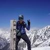 西穂高岳へ残雪日帰り登山
