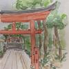 熊野神社スケッチ