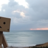 室蘭市 朝焼けの残り香みせるイタンキ浜