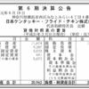 日本ケンタッキー・フライド・チキン株式会社 第6期決算公告