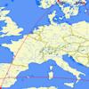 ヨーロッパ内でANAプレミアムポイントを貯める路線の検討【SFC修行】