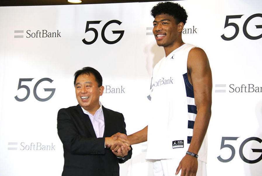 SoftBank Signs First-round NBA Draft Pick Rui Hachimura to Promote 5G Services