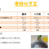 『手作りグミのレシピ』