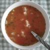 トマトリゾットというか、ごはん入りスープ
