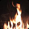 絵に描いた暖炉