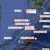 【地震】8/31 7:09奄美大島近海でM4.8地震~台風5号が震源を迂回していた