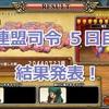 【モンパレ】連盟司令 5日目 結果発表!ニセゴロン編