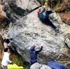 まだまだ初級者だけど、リアルな岩を登った④(御岳ボルダー)